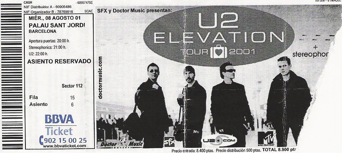 u2 barcelona 2001