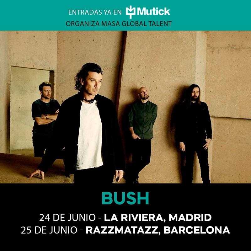 conciertos bush barcelona madrid