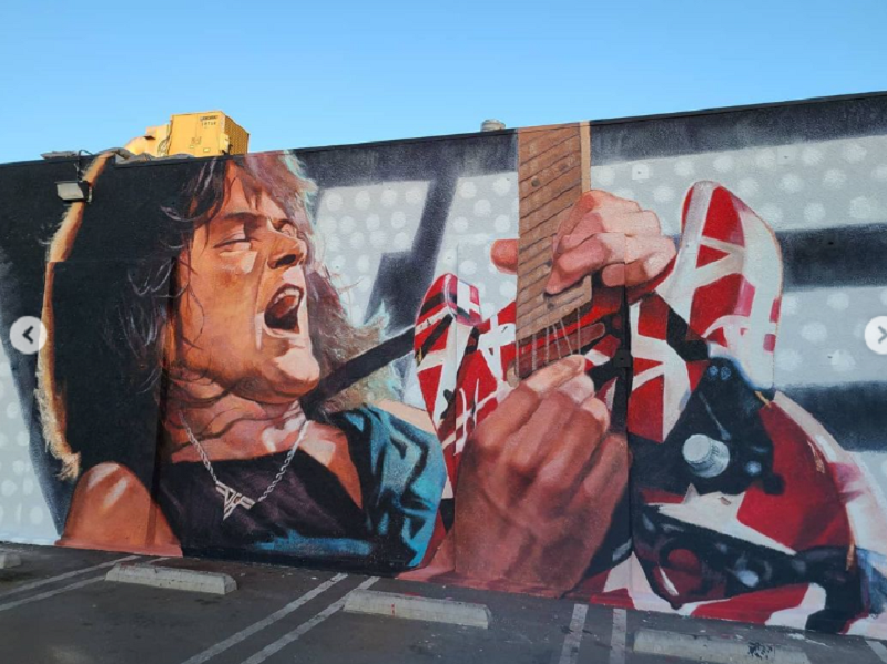 mural eddie van halen