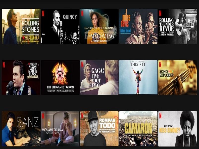 netflix documentales musicales