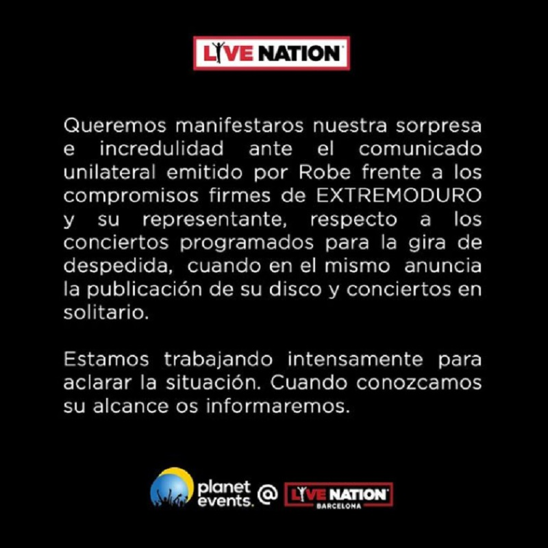 extremoduro live nation
