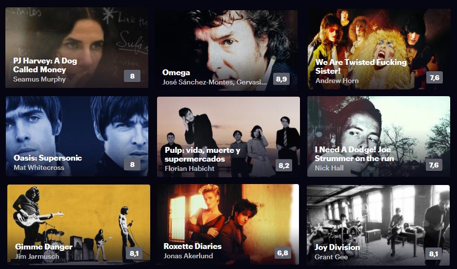 filmin documentales musicales