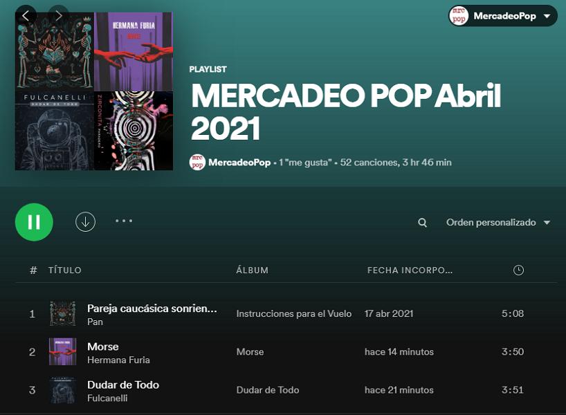 playlists abril 2021