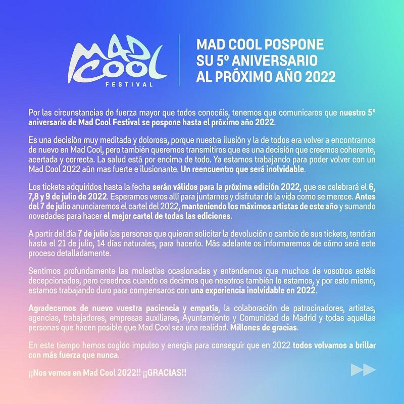 mad cool 2022