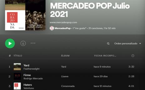 playlists mercadeo pop