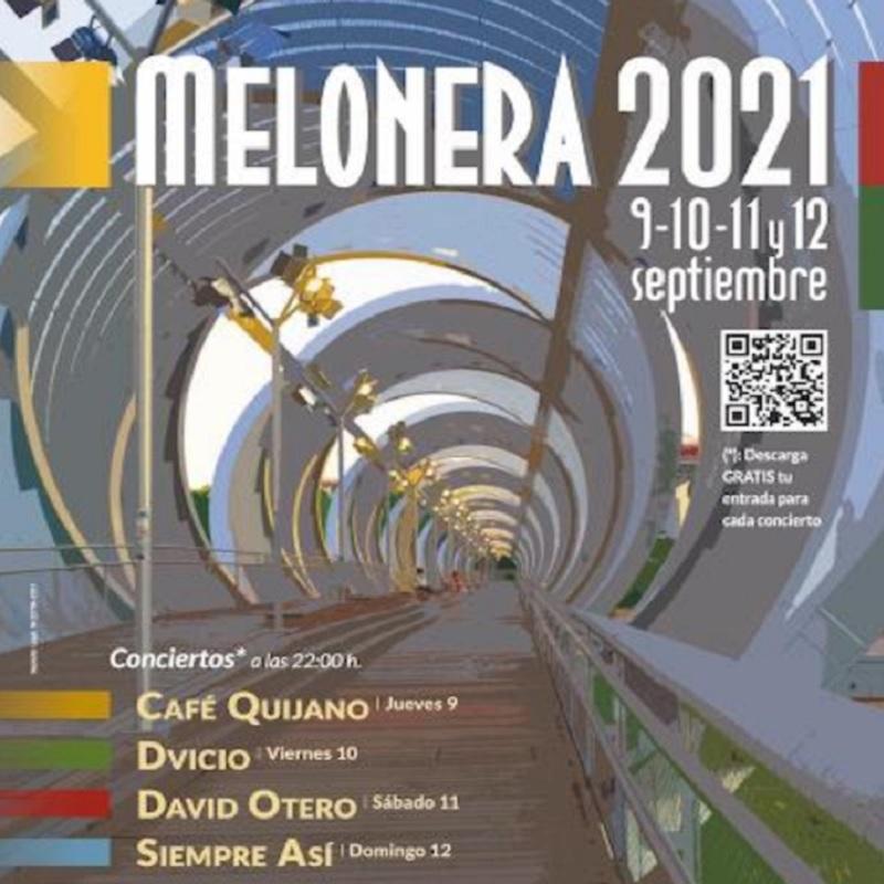 fiestas melonera 2021 conciertos