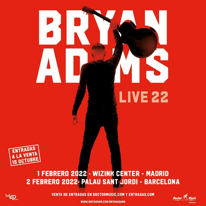conciertos de bryan adams en madrid y barcelona en 2022