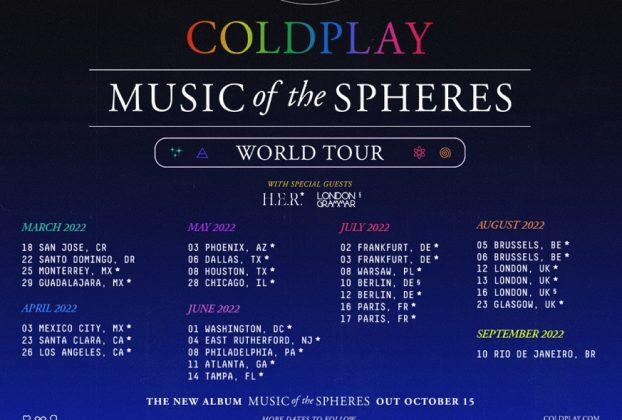 coldplay conciertos 2022